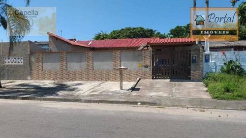 Casa Com 2 Dormitórios À Venda, 102 M² Por R$ 180.000,00 - Jardim Bopiranga - Itanhaém/sp - Ca0590