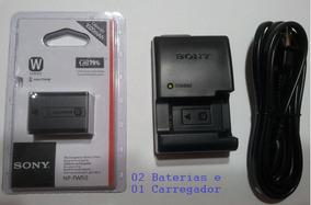 Kit 2 Baterias Sony Np-fw50 + 1 Carregador Bc-vw1 Originais