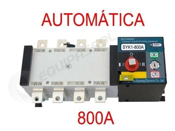 Chave De Transferência Automática 800a 4 Polos Motorizada