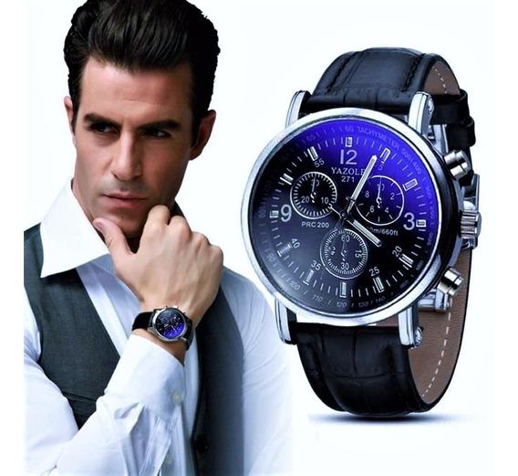 Relógio Masculino Japonês Reflexo Azul Barato Frete Grátis