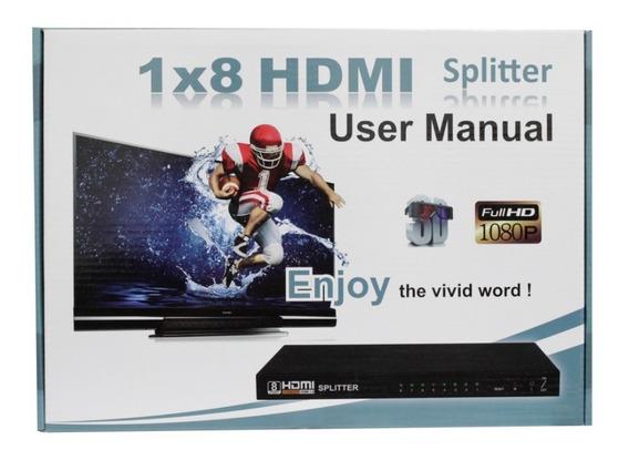 Splitter Distribuidor Divisor Hdmi 1x8 Ver.1.4 3d 8 Saidas