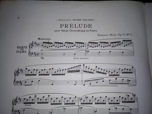 Partitura Prelude Harpe Chromatique Sans Pedales O´kelly