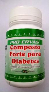 Composto Para Diabetes 60 Cápsulas 500mg - Pró-ervas