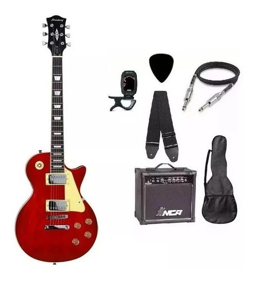 Kit Guitarra Strinberg Les Paul Lps230 + Caixa Amplificada