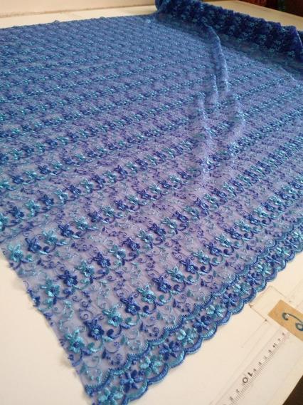 Tuly Bordado Para Roupa Azul Royal