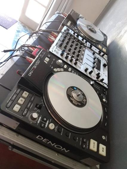 Cdj Denon Dn-s3700 + Mixer Denon 1500s + Case +acessórios