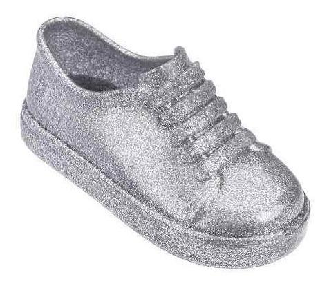 Tênis Mini Melissa Be Prata Glitter Infantil Original Y32274