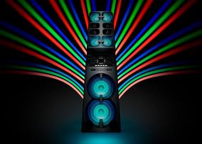 Mini System Muteki Sony Mhc V90dw Tipo Torre Com 10 Alto Fal