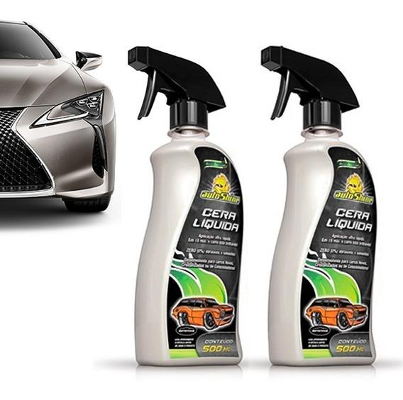Kit 2 Cera Líquida Carnaúba Cristalizadora Spray Autoshine