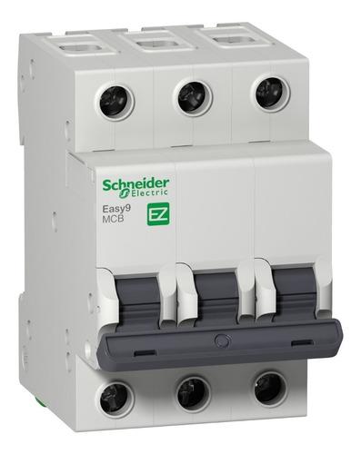 Interruptor Aut. Termomagnético Easy9 3p 20a Curva C