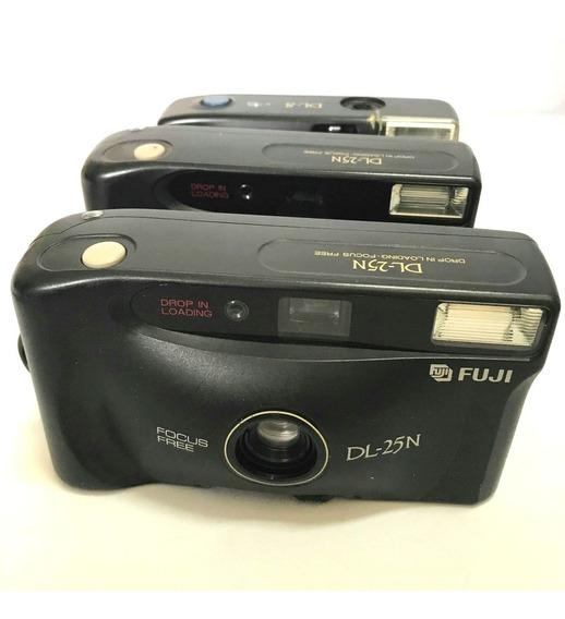 3 Câmera Fotografica Analogica Fujifilm Retro P/ Coleção