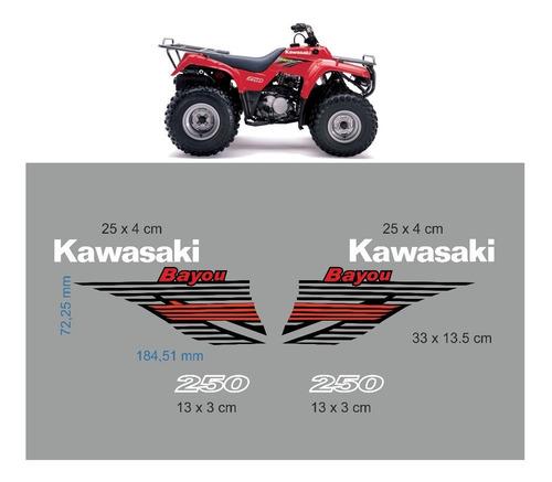 Imagen 1 de 2 de Adhesivos Cuatriciclo Kawasaki Bayou 250