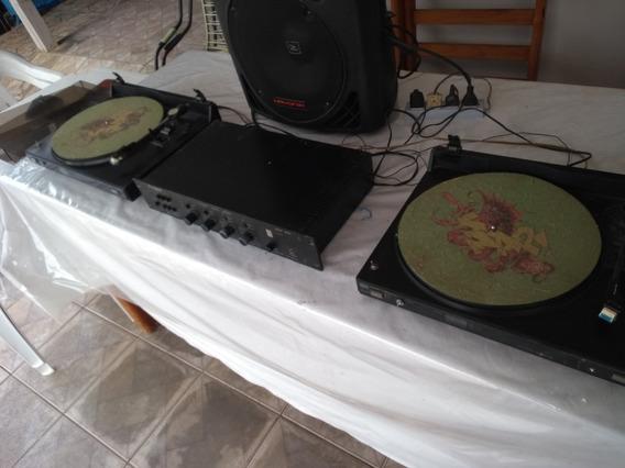 Lote Discos Selecinados + 02 Toca-discos+ Mix Dig Cygn