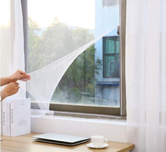 Tela Mosquiteira Com Velcro P/ Janela Poliéster 1,5 X 1,8 M