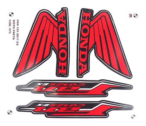 Adesivo Moto Fan125 Es 2011 Preta