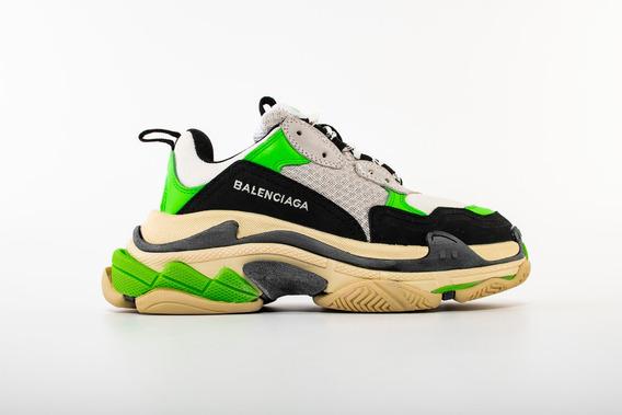 Zapatillas Balenciaga Triple S Sneaker Gris Y Verde T:40-45