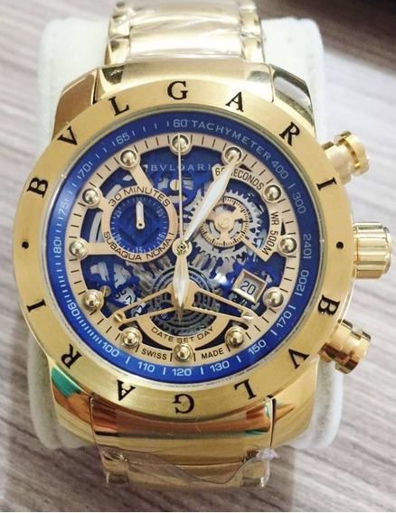 Relógio Bv Vidro Safira Linha Gratife Promocional
