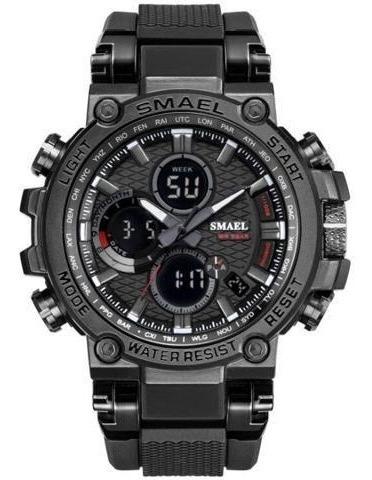Relógio Masculino Smael 1803 Preto Fosco / Top / Pronta Entr