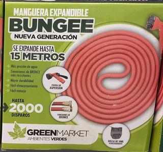 Manguera Expandible Bungee 5-15 Metros Conectores De Bronce