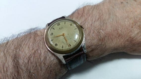 Relógio Avia Suiss Corda Manual Antiguidade Caixa Alumínio!!