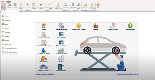 Imagem 1 de 1 de Sistema Para Oficinas, Veículos,moto, Ordem De Serviço
