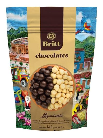 Chocolate Britt Relleno Macadamia 142g - kg a $282