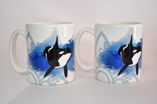 Taza Mug 325 Ml Orca Mundo Marino Promo *2 Unidades
