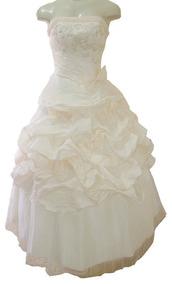 Vestido De Debutante 40 - Salmão - Pronta Entrega - Vn00214