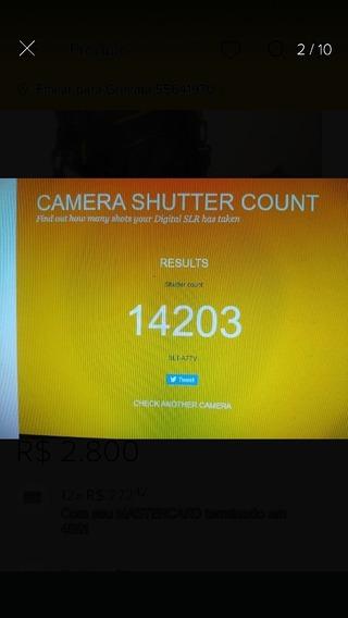 Sony A77 Só14 K Cliks Lente 18-55 Bolsa Cartão De Memória