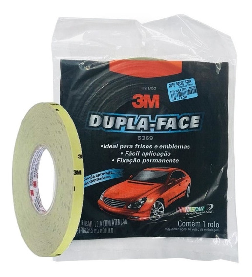 Fita Dupla Face Automotiva 3m 5369 Cinza 12mm X 20 Metros