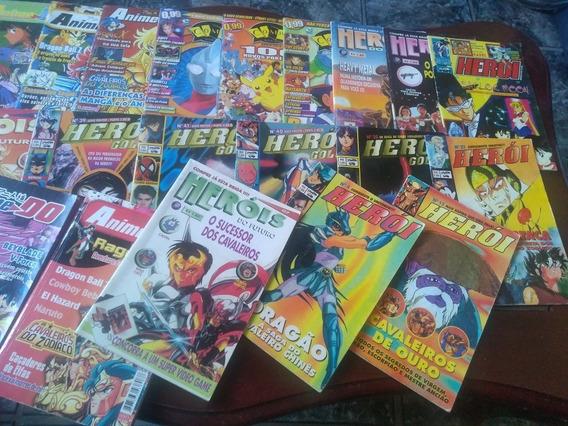Lote De Revistas De Animes Antigas E Raras !