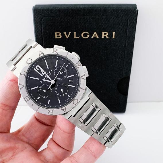 Bulgari Bb42 Chronograph Full Steel Automático Completo