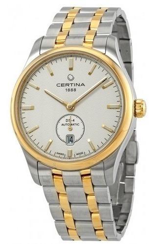 Relógio Masculino Automático Certina Ds4 Dourado/prata/aço
