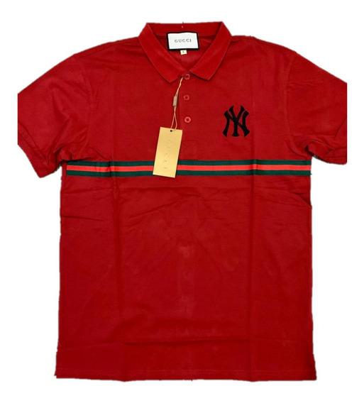 Camisa Polo Gucci New York Red Envio Gratis