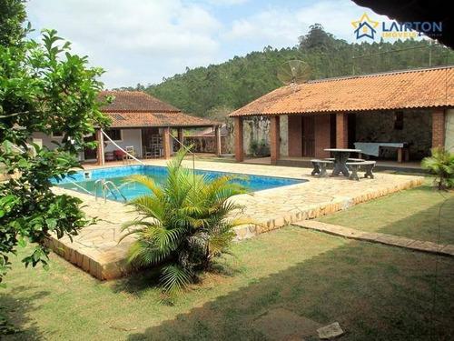 Chácara Com 2 Dormitórios À Venda, 1000 M² Por R$ 742.000,00 - Lagoa - Atibaia/sp - Ch1265