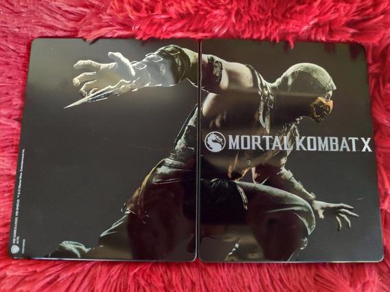 Steelbook Mortal Kombat X Raro Com Placa Numerada
