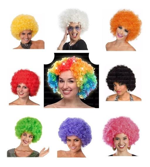 Pelucas Luminosa Led!!!! Afro Multicolor/color A Eleccion