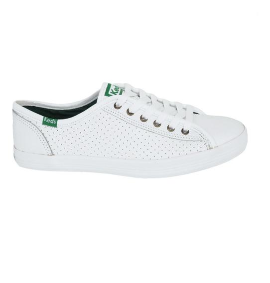 Tênis Keds Kickstart Perf Leather Branco