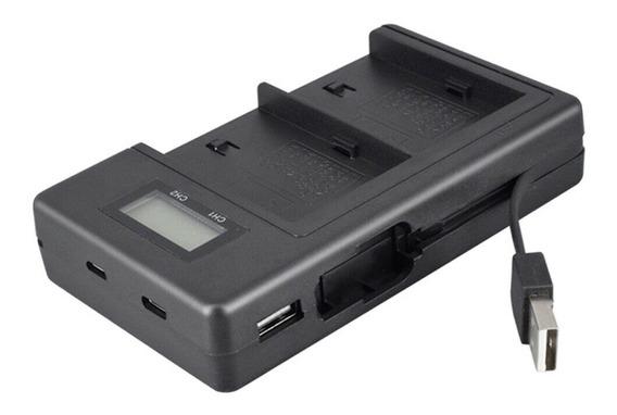 Carregador Usb Para Bateria Sony Np F970 F550 Led