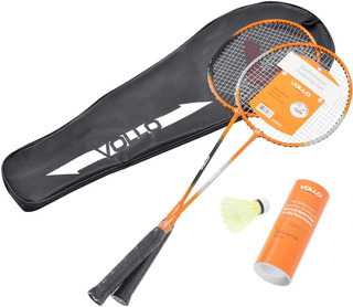 Kit Badminton Vollo 2 Raquetes + 3 Petecas + Raqueteira