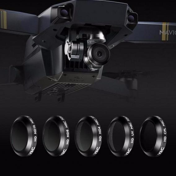 Kit 5 Dji Mavic Pro Filtro Polarizador Cpl Uv Nd4 Nd8 Nd16