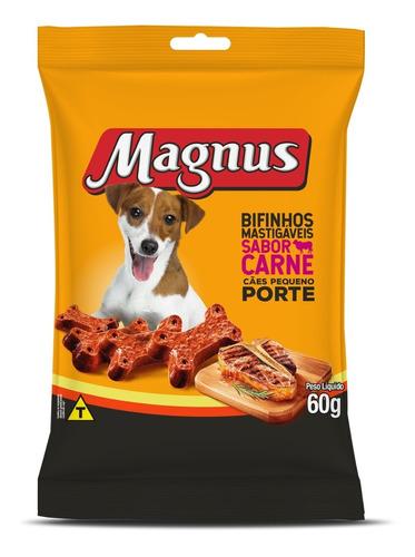 Imagem 1 de 1 de Bifinho Para Cães De Pequeno Porte Magnus Sabor Carne 60g