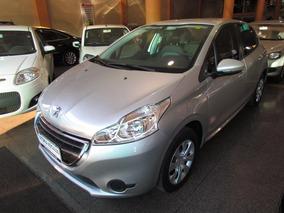 Peugeot 208 1.5 Active Flex 2014 Prata Completo
