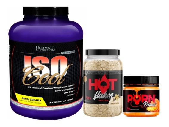 Kit Whey Isocool 2,27kg + Flakes 700g + Pasta 1kg Ultimate