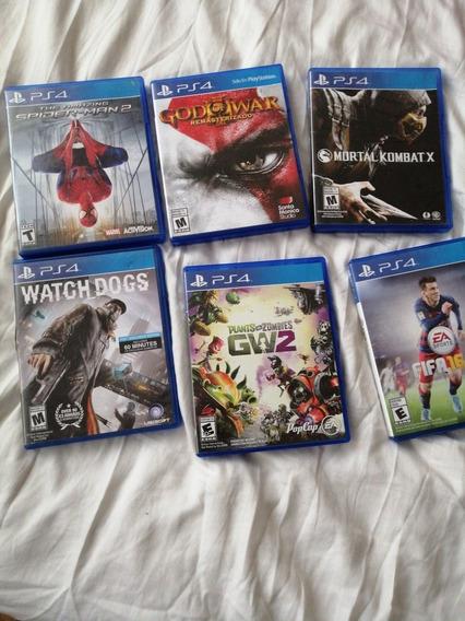Juegos De Playstation 4: Mortal Kombat, God Of War Etc.