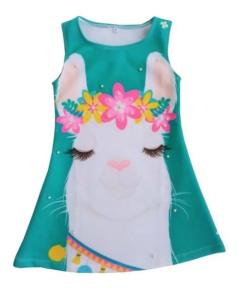 Vestido Para Niña Diseño No Mas Drama Llama - Ig