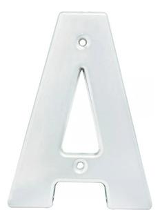 Letra De Fachada A Bold 4 Cromo Satinado Lock L70ac