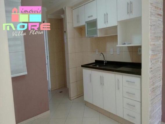 Lindo Apartamento Modelo Bruna Térreo, Dois Dormitórios Sendo Um Com Armário Planejado, Cabeceira; Cozinha Planejada E Gabinete; Banheiro Com Box Blindex, Gabinete E Espelho; Uma - Ap00195 - 4818632