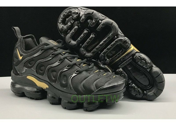 Tenis Nike Air Vapormaxplus Na Caixa Original Black Gold 38