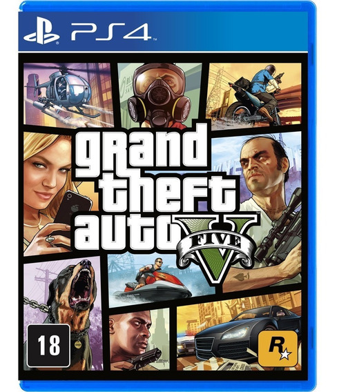 Jogo Gta 5 Ps4 Playstation 4 Mídia Física Grand Theft Auto V